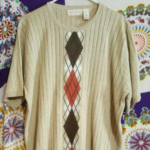 Alfred Dunner 3x Short Sleeve Sweater